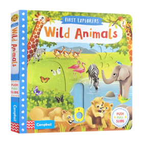 小小探索家系列 野生动物 英文原版绘本 First Explorers Wild Animals SETM科普机关操作纸板书 英文版进口原版儿童英语启蒙读物