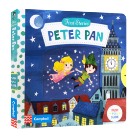 小飞侠彼得潘 英文原版绘本 Peter Pan First Stories 童话篇操作机关书 BUSY系列 亲子互动故事纸板书 英文版儿童英语启蒙认知
