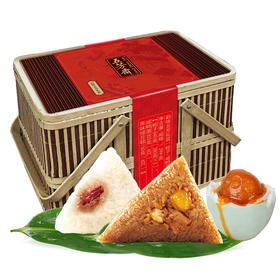 五芳斋韵味五芳粽子礼盒1290g|端午粽子礼包  3袋装(6个粽子)+咸鸭蛋1盒(6个)+绿豆糕1盒(6个)【生鲜熟食】
