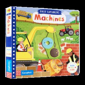 小小探索家系列 机器 英文原版 First Explorers Machines 英文版儿童英语启蒙绘本 幼儿交通工具认知机关书 进口原版书籍