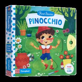 匹诺曹 英文原版绘本 Pinocchio First Stories系列之童话篇 儿童英语纸板机关操作活动书 英文版睡前阅读经典童话书 进口原版书籍