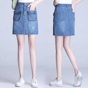PX-KPMH1611新款韩版时尚气质修身高腰牛仔半身裙TZF