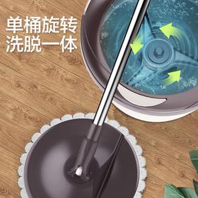 宝家洁免手洗拖把杆旋转通用单桶家用一拖净懒人拖布桶地拖墩布拖地神器