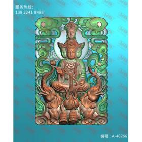 A-40266 四面普贤菩萨 平面浮雕图纸