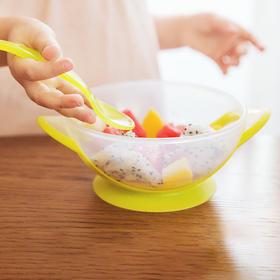兔头妈妈 便携吸盘碗 带勺