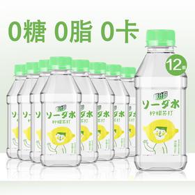 椰汁岛网红苏打水饮料350ml*12瓶/箱|无糖无气0脂0卡【乳酒冲饮】