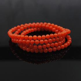 【3折】特惠*天然南红柿子红长绕手