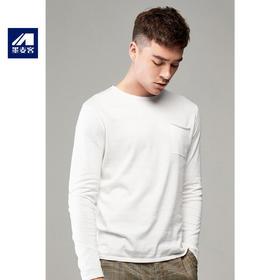 春季新款圆领长袖针织衫男士休闲套头毛衣T恤3166