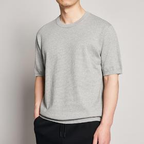 男装夏季新款圆领针织t恤男士情侣休闲短袖体恤衫7716