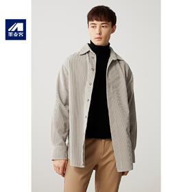 【内购特卖】春季新款中长款灯芯绒衬衫夹克外套男士翻领风衣潮
