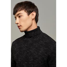 男装春季新款加厚高领套头毛衣男士提花打底针织衫2312