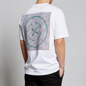 男装男士白色短袖T恤韩版印花半袖体恤宽松潮7356
