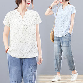 AHM-rxmm8962新款韩版印花短袖清新T恤TZF