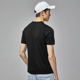 【内购特卖】夏季薄款针织短袖T恤男V领打底衫男潮半袖