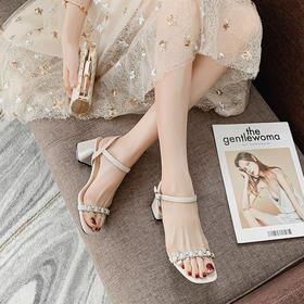 AUSHEEP UGG澳洲凉鞋 超纤面料特质柔软透气 视觉增高优雅大方 粗跟设计走路稳固轻松