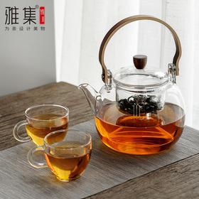 雅集  鼓韵提梁壶  蒸煮两用煮茶壶