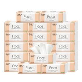洁柔粉face 天然无香可湿水面巾纸 120抽3层20包装JR078-05(利信馨)
