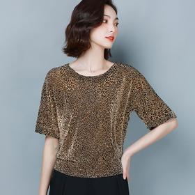 AHM-dydd9533新款时尚优雅气质短袖圆领T恤衫TZF