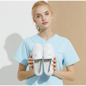 铂雅护士鞋工作鞋医生鞋超轻小白牛皮鞋舒适气垫鞋5054