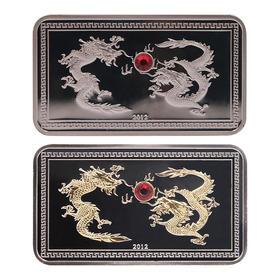 2012年二龙戏珠银币
