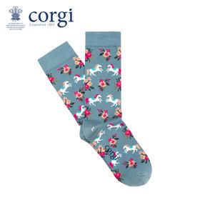 英国CORGI·儿童款轻棉碎花独角兽春夏时尚长筒高筒袜子