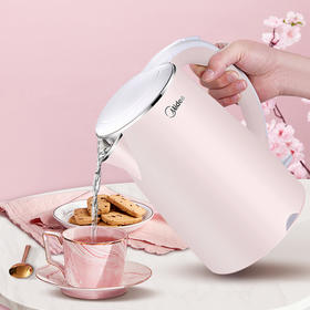 【美的电水壶】家用开水壶烧水壶 食品级304不锈钢 进口温控器 双层防烫 1.7L黄金容量