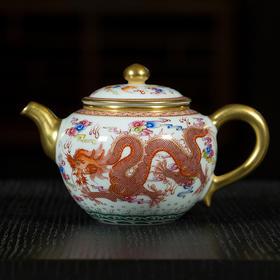 双龙戏珠茶壶