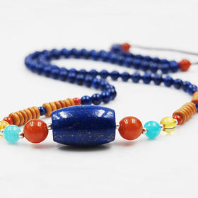 【3折】特惠*天然青金石搭配南红套链