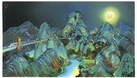 限量丝网版画《月是故乡明 》赵千 43×62cm