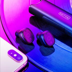 强大的耳机!防水!金属充电仓自充电6次/降噪/一键切歌接电话/赠3款耳机套+耳机包