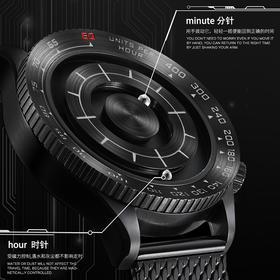 EOEO炫酷磁力悬浮手表男士军表特种兵黑科技大表盘个性无概念霸气