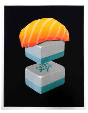 限量丝网版画《Sushi-Ⅰ》36版 赵千 57×72cm