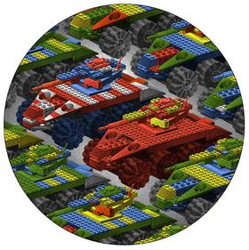 限量丝网版画《玩具帝国》200版 赵千 71×71cm