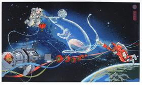 限量丝网版画《大红灯笼高高挂》赵千 43×62cm