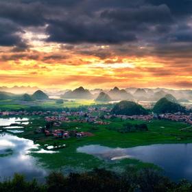 普者黑万亩荷花+八宝园中国山水风光摄影之旅