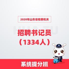 2020年山东省检察机关招聘书记员(1334人)系统提分班