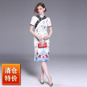 (捡漏款高端刺绣)OG9277凤凰于飞刺绣改良旗袍TZF