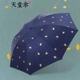 天堂三折黑胶防晒晴雨伞33631E银杏飞舞(鸿源鹏达)