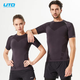 悠途能系列飓风男女运动压缩短袖