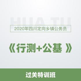 2020年四川定向乡镇公务员《行测+公基》过关特训班