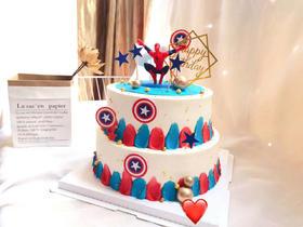 Q版蜘蛛侠—儿童双层蛋糕