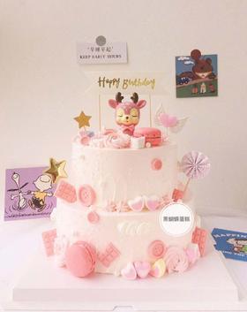 萌小鹿—卡通双层蛋糕