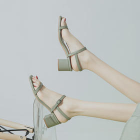 罗马方头凉鞋丨2020夏季新款 夏日百搭一字绑带凉鞋 四色可选