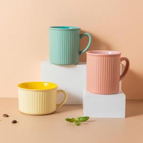 摩登主妇ins风简约陶瓷马克杯子潮流情侣水杯家用麦片早餐杯创意