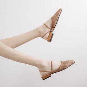 夏日女士编织凉鞋丨羊皮中底 软绵不磨脚  编织鞋面 轻薄透气 一鞋两穿感受夏日清凉