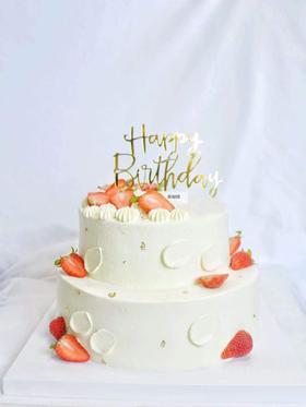 恋上莓莓—鲜果双层蛋糕
