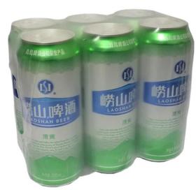 崂山清爽啤酒500ml*6