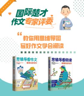 思维导图作文 阅读 全2册看得见的写作能模仿的写作丁丁老师推荐