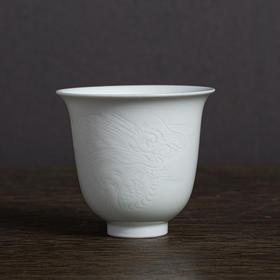 徐全胜·影青浮雕十二生肖杯(虎、龙)