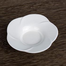 暗香银器·甜白釉茶碟